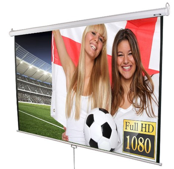 manual pull down projector screen