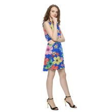new fashion ladies printed chiffon dress