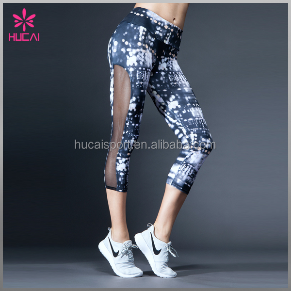 Polyester Spandex Ladies Sublimation Printed Yoga Clothing Fitness Gym Wear,Yoga Pants