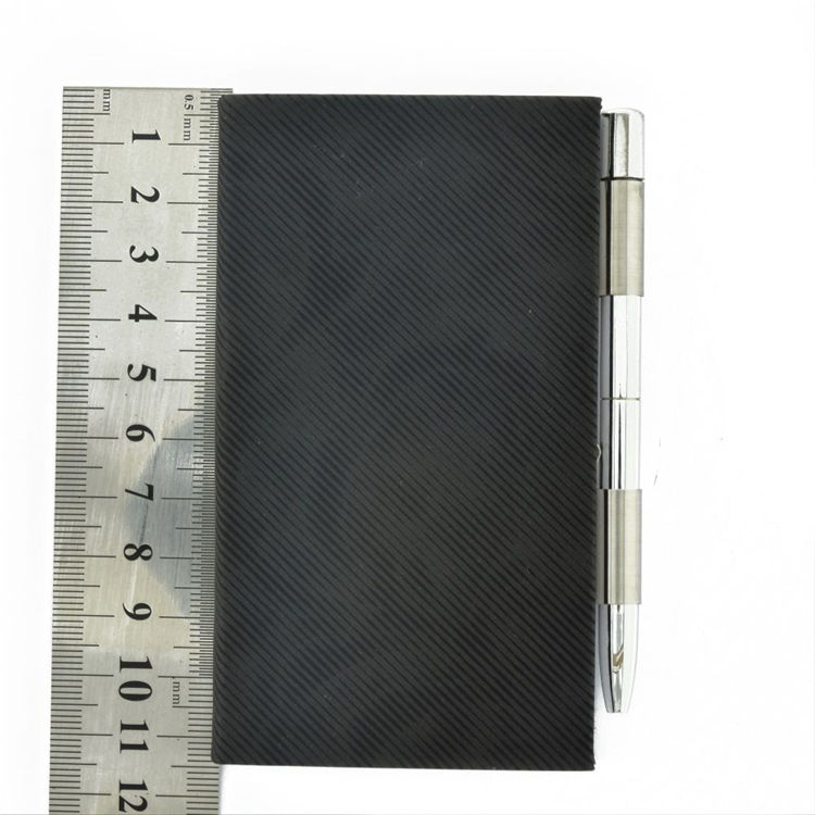 High quality leather notebook card case memo case with pen