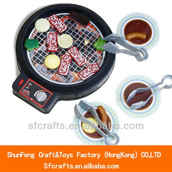 2013 new children kitchen set toy electric barbecue grill toy
