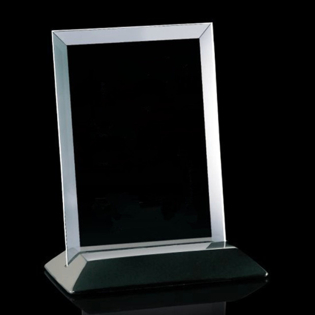 Blank Crystal Plaque Trophy Wooden Base