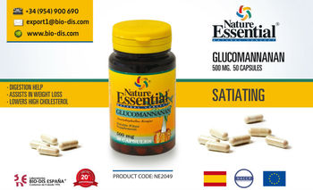 Glucomannan 500 mg 50 Capsules - Food supplement