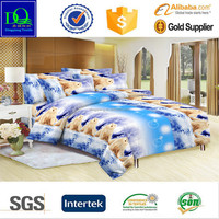 Polyester cartoon design microfiber kids printed bedding set fabric