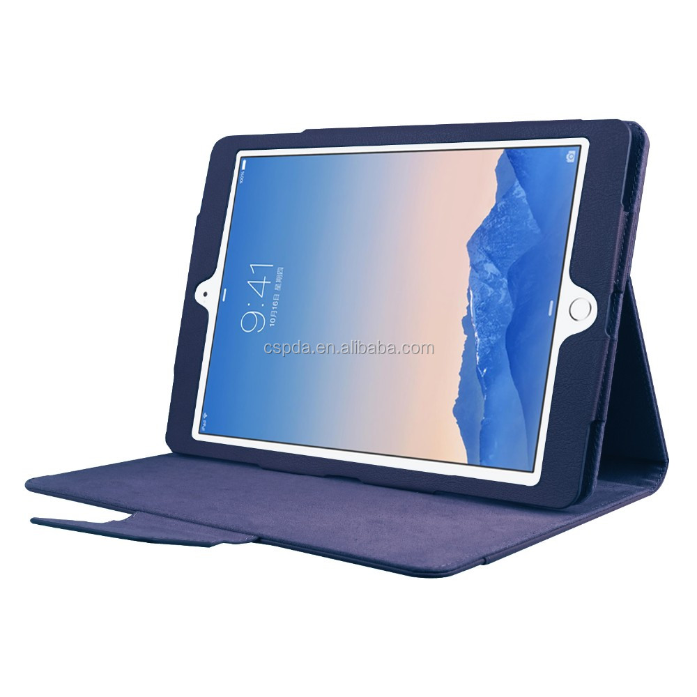 2017 hot flip pu leather cover case for ipad pro 9.7 irregular boundary big magnetic flip book style back stand new premium case