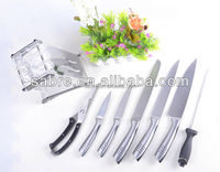 2016 new design 8Pcs Stainless Steel Kitchen Knife With Acrylic Base