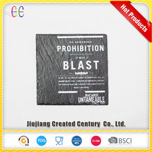 Tableware square slate stone coaster with printing