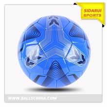 New design colorful machine stitched pu foam football soccer ball