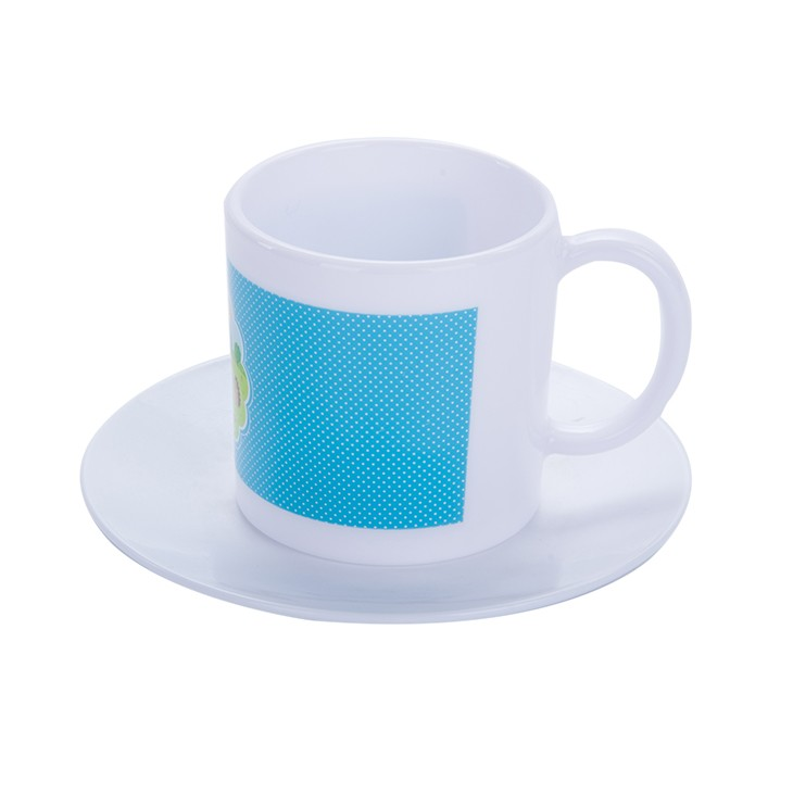 Customized colorful PP coffee mug with plate