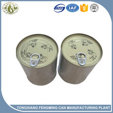 0.5L-1Lmetal easy open lid round tin can,paint container,motor oil can packing for towel socks solid particles
