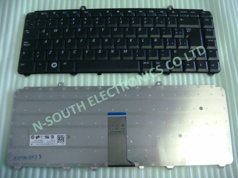 wholesale laptop SP / spanish laptop keyboard for dell 1540 1545 sp Teclado black