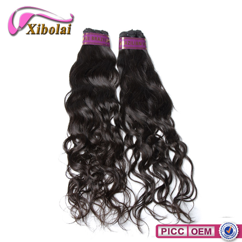 100% human hair no chemical process Brazilian natural wave hair sample
