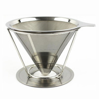 latest new design Stainless Steel pour over filter cone