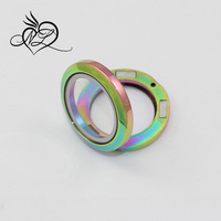 Rainbow Color! Hot Christmas gift large floating charms necklace magnetic stainless steel glass pendant Memory Locket