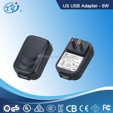 12V 0.5a USB AC/DC adapter,power supply for US marketing with white/black color