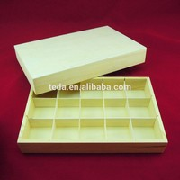 Manufacturer custom rectangular plain wooden box