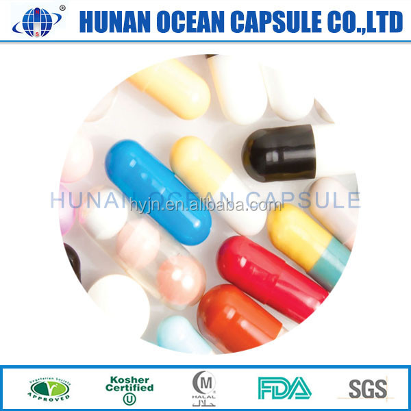 empty color capsule halal HPMC pharmaceutical transparent nature color capsules size 0 made in China