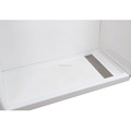 "60""x30""x4'' Cultured Marble Trench Drain Shower Pan With Stainless Steel Drain Cover for US Hotel Shower Pan Shower Base"