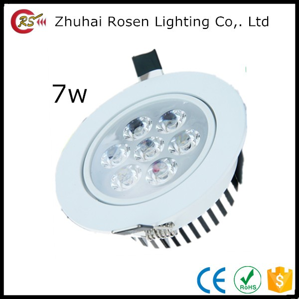 high quality dimmable aluminum alloy cool white 7w led ceiling light ficture