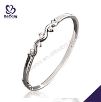 fashion trendy silver jewelry cheap wood bangle bracelets