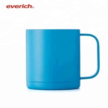 12oz 18oz Blue Portable Double Walled Stainless Steel Heated Coffee Mug Tumblers with Handle