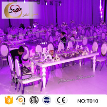 used luxury hotel dining room furniture stainless steel table for sale