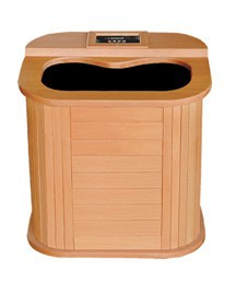 Far infrared foot spa sauna barrel with tourmaline stone and carbon heater