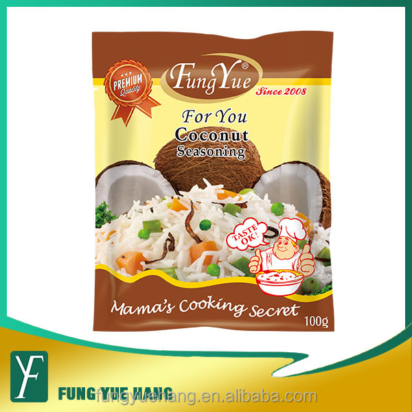100g sachet coconut flavor condiment seasoning powder
