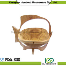 Wholesale China Import Gift Bamboo Basket For Fruit And Flower