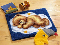 Popular Latch hook craft kit&DIY Latch hook rug embroidery