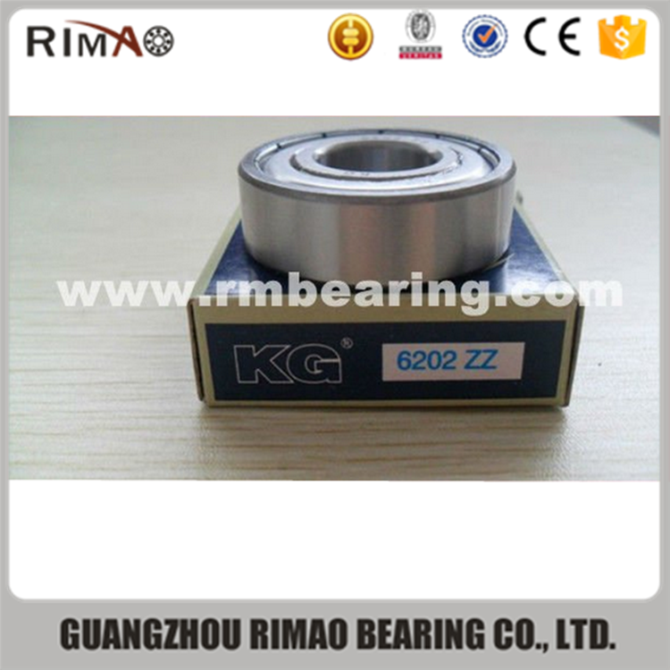 alibaba china supplier KG chair bearing 6202 6202zz deep groove ball bearing price for ceiling fan 202 zz ball bearing
