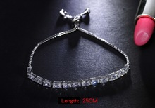 Rectangle crystal setting CZ costume jewellery Free size fashion design