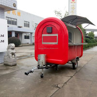 Cheap street fast food cart vending food van/trailer with fryer inside