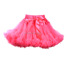 Boutique custom colors young girls mini puffy fluffy tutu skirt for girls make tutu