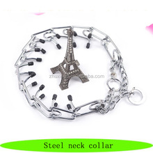Products pet luxury, pet steel neck collar, accessories for dogs and cats