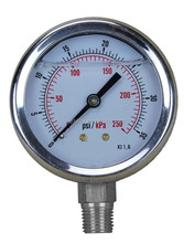 Liquid Filled Bourdon Type All SS pressure gauge