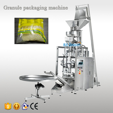 China factory automatic cup measuring 500 g 1 kg plastic bag granule sugar MSG salt rice packaging machine price