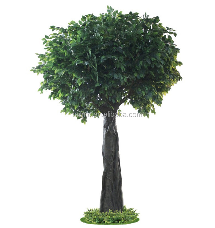 Silk Ficus Tree decorative artificial wooden tree for hotel decoration