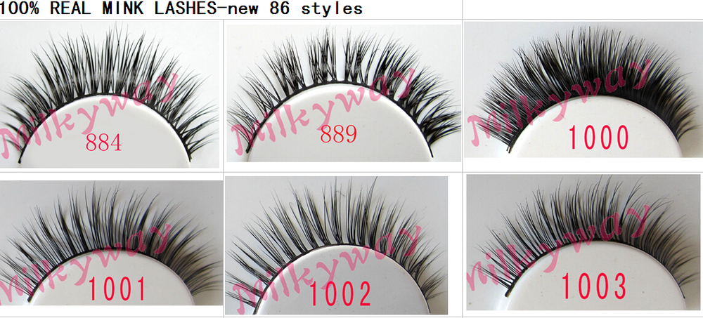 hand-Made natural real mink fur eyelash private label mink eyelashes