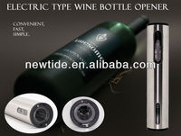 2013 promotion wine opener fancy battery operated electric wine bottle opener wine opener gift set(NT-WOM205A)