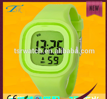 2017 Unique led silicone waterproof kids watch with many colors make your choices