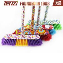 Cleaning plastic broom floor Broom hand stick broom with big cap