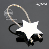 Promotional Star Shaped Steel Wire Metal Wire Keychain