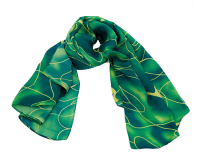 2016 New Arrival 90*180 Green Silk Women Scarf