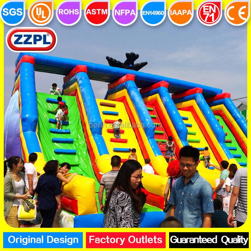 ZZPL outdoor giant inflatable obstacle course equipment inflatable wipeout for adults