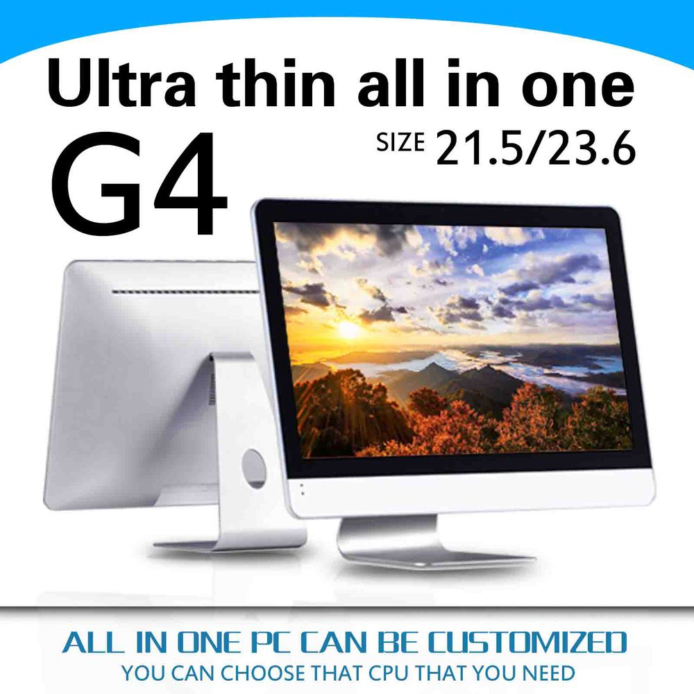 High Performance LED Core i5-4570s quad core all-in-one pc all in one pc G4 21.5inch mini computer