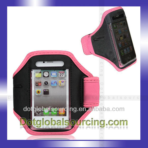 For iPhone 4 4S Gym Sport Running Armband Protection Case Cover Color