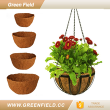 Coconut plant nursery hanging grow basket