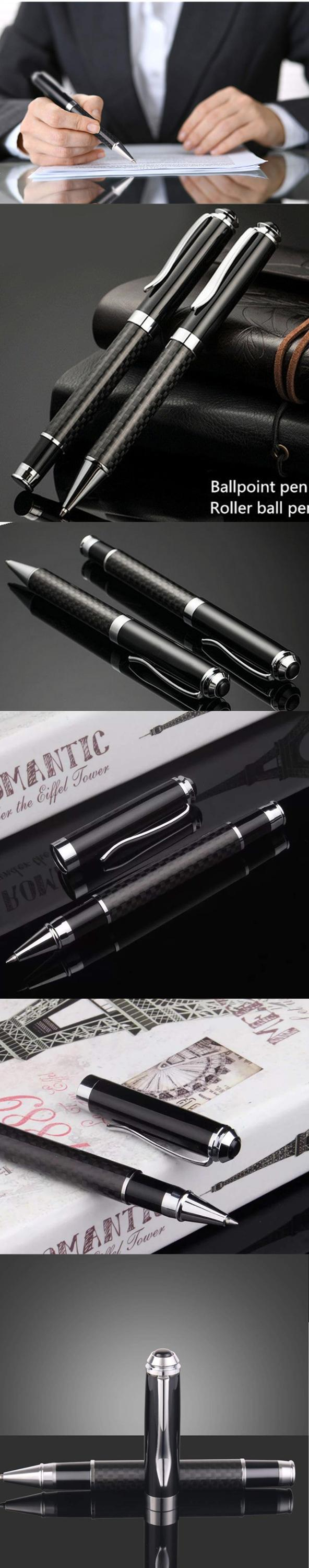 classic design luxury Carbon fiber Metal ball pen with Customer logo