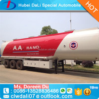 Stainless Steel 4 Compartments 45000L Fuel Tanker Semi Trailer For Sale